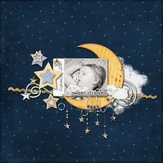 Sweet Dreams Baby - Scrapbook.com  Wendy Schultz onto Scrapbook Art.