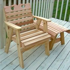 The Cedar Country Hearts Patio Chair design comes with 2 heart cutouts. The unique design has become a big seller with our customers and will look great in any park or garden. - May 18 2019 at Patio Dining Chairs, Garden Chairs, Outdoor Chairs, Outdoor Decor, Outdoor Living, Adirondack Chairs, Room Chairs, Outdoor Lounge, Office Chairs