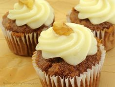 Nummy for My Tummy guest posts with a recipe for Carrot Cupcakes with Sweet Dairy Free Frosting by @Stacy of Paleo Parents
