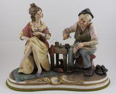 Capodimonte Bruno Merli figurine Cobbler and Lady