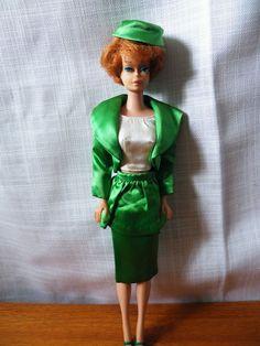 Vtg Mattel side part bubblecut barbie, Theatre Date outfit complete