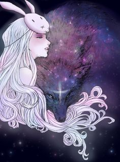 Rabbit Girl and The Wolf by Fonora on DeviantArt <<< reminds me of chiara Bautista