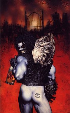 Old LOBO is a million times sexier then the new Lobo to be released by DC. Guess where you can stick that new Lobo design.