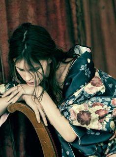 midnight-charm: Marine Vacth by Paolo Roversi for Vogue Italia January 2014