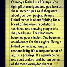 "Pitbulls ~ I do not ""own"" my pit bull type dog. He owns me and I am his Guardian. I advocate for these loving, sweet natured dogs. Their gentle spirit, unwavering loyalty and gentleness can't be measured. To know a pit bull is to love a pit bull!"