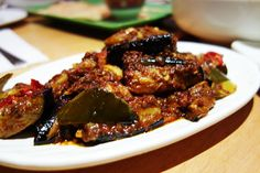 Spicy Aubergine from Rasa Sayang London #Malaysian #Food #foodies   http://www.yummei.com/2015/07/rasa-sayang-chinatown-london.html