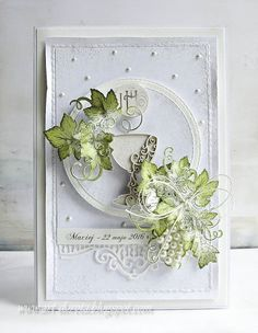 Dorota_mk: Nadal tradycyjnie ... Graphic 45, Baptism Cards, Altenew Cards, Mixed Media Cards, Shabby Chic Cards, Birthday Cards For Women, Embossed Cards, Handmade Decorations, Cool Cards