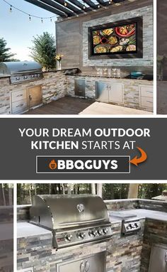 Maximize your backyard year round with an outdoor kitchen. Expand your outdoor space for cooking, eating, entertaining, and even relaxing. Here are some helpful tips to consider before starting an outdoor kitchen project. Outdoor Kitchen Plans, Backyard Kitchen, Outdoor Kitchen Design, Bbq Kitchen, Backyard Bbq, Outdoor Kitchens, Outdoor Cooking, Living Pool, Outdoor Rooms