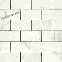 Italian Calacatta Italian Marble Honed Subway Tile available online from The Builder Depot.