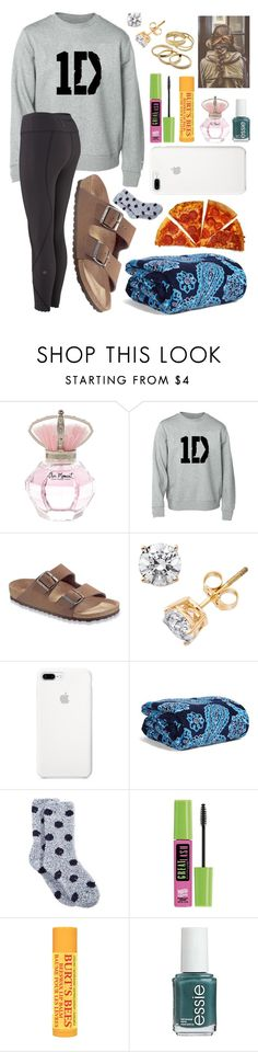 """""""Sleepover w/ friends"""" by madelines-fashions ❤ liked on Polyvore featuring River Island, Birkenstock, Vera Bradley, Charter Club, Maybelline, Burt's Bees, Essie and Kendra Scott"""
