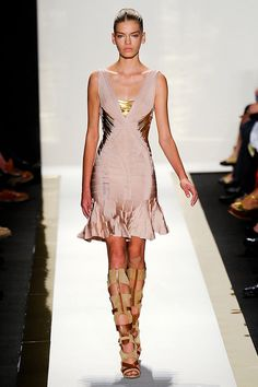 Herve Leger by Max Azria Spring 2012 RTW from Elle.com