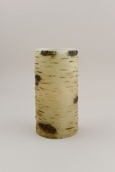 """Birch Wax Flameless Battery Operated LED Pillar Candle 6"""", Timer"""
