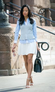 Victoria Kristine, BlasianGurl, The Executive, A Line Skirt, H&M, Marc Jacobs, BCBG, Layering, Office Look, Fashion