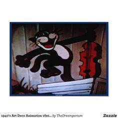 1940's Art Deco Animation 16x12 Photo print