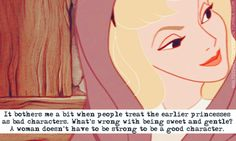 Kind of torn by this, you do need to be strong, but there is nothing wrong with being sweet and gentle. It's  a fine line.