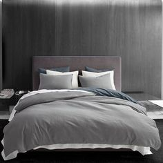 Shop Vera Wang Waffle Pique Cotton Duvet Cover Set - On Sale - Overstock - 26051789 King Duvet Cover Sets, Queen Comforter Sets, Queen Duvet, Duvet Sets, Duvet Covers, Vera Wang, Blue Duvet, Grey Duvet, King Pillows