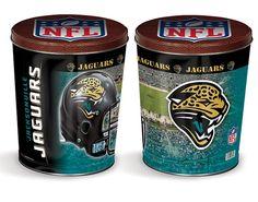 Jacksonville Jaguars Blue Popcorn Tin | Three Gallon Gift Tin with 7 Flavors