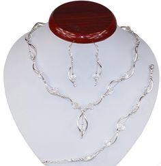 BIŻUTERIA ŚLUBNA KOMPLET ŚLUBNY wieczorowy posrebrzany kryształki crystal KP233 Jewelry, Fashion, Jewlery, Moda, Jewels, La Mode, Jewerly, Fasion, Jewelery
