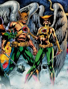 Image result for hawkman and hawkgirl