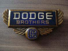 John and Horace Dodge aka Dodge Brothers Car Badges, Car Logos, Auto Logos, Logo Autos, Dodge Logo, Vintage Cars, Antique Cars, Auburn, Automobile