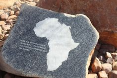 Written in stone at Maropeng in the Cradle of Humankind World Heritage Site, Gauteng, South Africa.