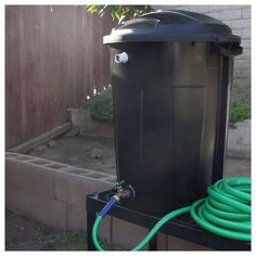 We need to do the spigot part in my rain barrel! Trash Can Rain Barrel Outdoor Projects, Garden Projects, Garden Ideas, Stem Projects, Diy Garden, Water Collection, Rainwater Harvesting, Garden Landscaping, Landscaping Ideas