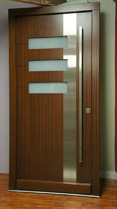 Modern Interior Doors Ideas Choosing Modern Interior Doors for Your Home Modern Interior Doors Ideas. Interior doors are as important as exterior doors. Within a home or a building, interior doors … Midcentury Modern Front Door, Modern Wood Doors, Modern Exterior Doors, Contemporary Front Doors, Wood Exterior Door, Wooden Front Doors, Glass Front Door, The Doors, Entry Doors