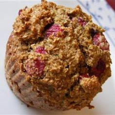 Low-Fat Cranberry Bran Muffins