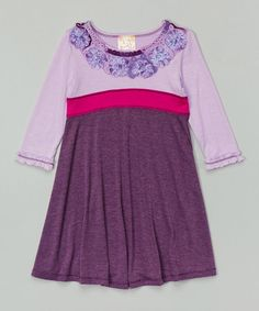 Another great find on #zulily! Eggplant Babydoll Dress - Toddler & Girls by Pink Vanilla #zulilyfinds