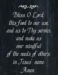 Saying Grace ... 4 Free Chalkboard Art Mealtime Prayer Printables - at KnickofTime.net