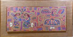 LARGE ANTIQUE S. AMERICAN HANDMADE MOLA TAPESTRY