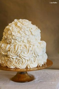 This Cake :)  --  Hydrangea Love | Intimate Weddings - Small Wedding Blog - DIY Wedding Ideas for Small and Intimate Weddings - Real Small Weddings