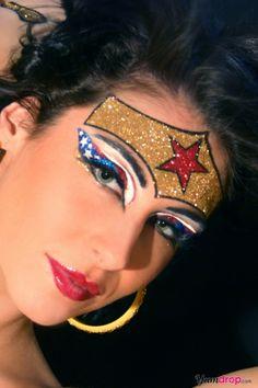 Wonder Woman Costume Glitter Eye Kit  I am both fascinated and horrified.