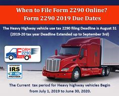 2290 form for 2019  15 Best form 15 15 images