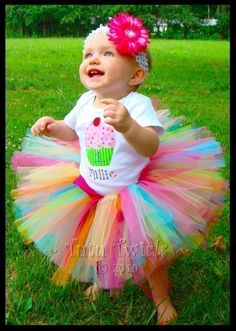 Newborn thru 24 months SWEET CANDY BIRTHDAY Tutu - Perfect for Photos, 1st Birthdays, Baby Shower Gifts. $20.00, via Etsy.