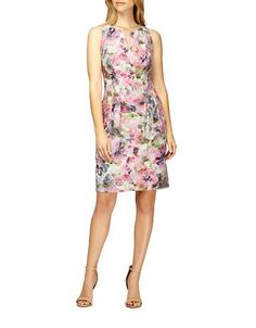 Brands | Dresses | Floral Print Pleated Sheath Dress | Lord and Taylor