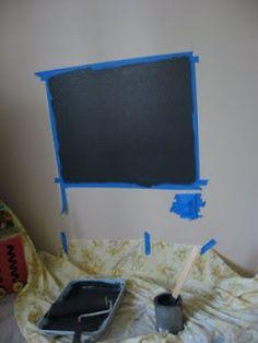DIY Framed Chalkboard - perfect for kids' playroom!