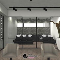 🤩 With pride and joy we're sharing the 'artist impressions' of Arjan Bevers' to be renewed ánd expanded Avanti Kappers. The salon will open after the summer, but we wanted to share this selection with you! Black Windows, Salon Furniture, Salon Style, Beauty Spa, Salon Ideas, Salon Design, Nail Spa, Pride, Walls