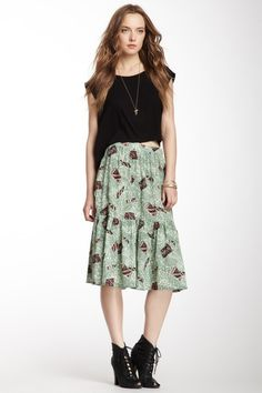 Mind Reader Tiered Midi Skirt by Viva Vena! By Vena Cava on @HauteLook