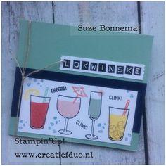 verjaardags kaart frysk lokwinske mixed drinks stampin up suze bonnema