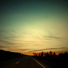 open roads, road trips, sunsets, sunrises, escape, coming home...