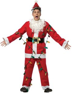 859b80a074a National Lampoon s Christmas Vacation Lit-Up Santa Adult Costume