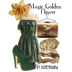 """""""Magic Golden Flower"""" by lalakay on Polyvore"""