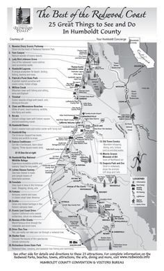 Best 25 Things to Do Map, Humboldt County, California