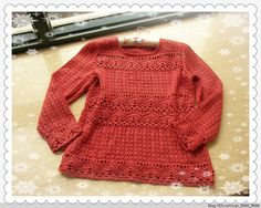 花田—春天里的衬衫伴侣 - 心灵驿站 - 心灵的港湾  This pattern uses both crochet and knitting