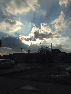 Sundown in NJ . After a thunderstorm .