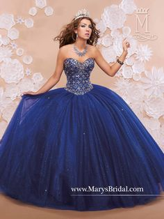For the Quinceanera who prefers a gorgeous dress without ruffles!