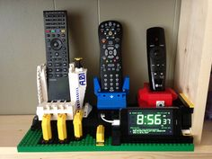 Lego stand for my remotes and iPhone.