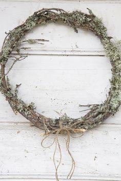 lichen twig wreath