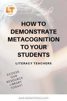 Want to help students improve reading comprehension? Read this post to learn how to teach students metacognition with a modeling technique. Student Teaching, Teaching Reading, Teaching Tools, Teacher Resources, Learning, Improve Reading Comprehension, Reading Strategies, Classroom Posters, Classroom Ideas